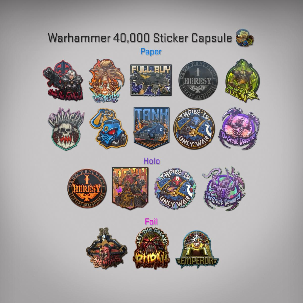 CSGO Update - Warhammer 40k Stickers